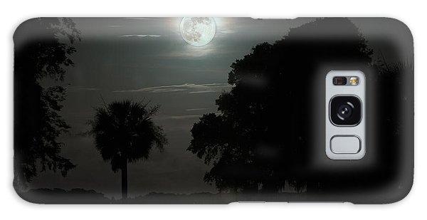 Super Moon Over Wimbee Creek Galaxy Case