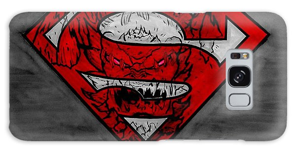 Superman And Doomsday R G Galaxy Case by Justin Moore
