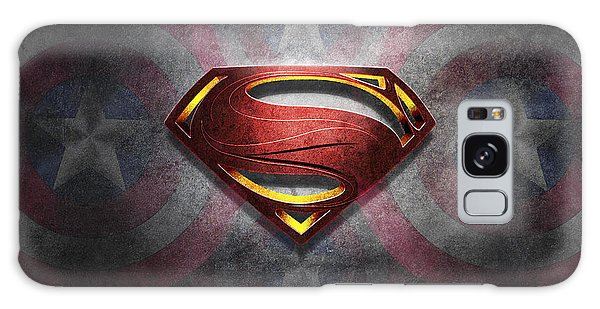 Superman Symbol Digital Artwork Galaxy Case
