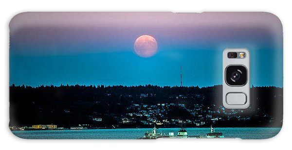 Supermoon Rises Over Puget Sound 2 Galaxy Case by Ronda Broatch
