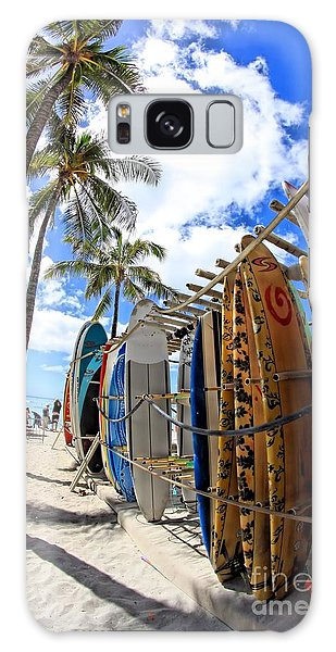 Surf And Sun Waikiki Galaxy Case