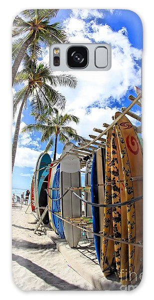 Surf And Sun Waikiki Galaxy Case