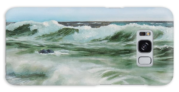 Surf At Castlerock Galaxy Case by Barry Williamson