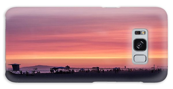 Surf City Sunset Galaxy Case