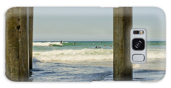 Surf Framed Under The Pier Galaxy Case by MaryJane Armstrong