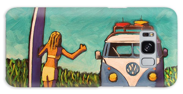 Surfer Girl And Vw Bus Galaxy Case