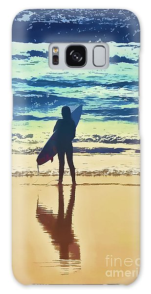 Surfer Girl Galaxy Case by Andrea Auletta