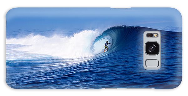 Surfer In The Sea, Tahiti, French Galaxy Case