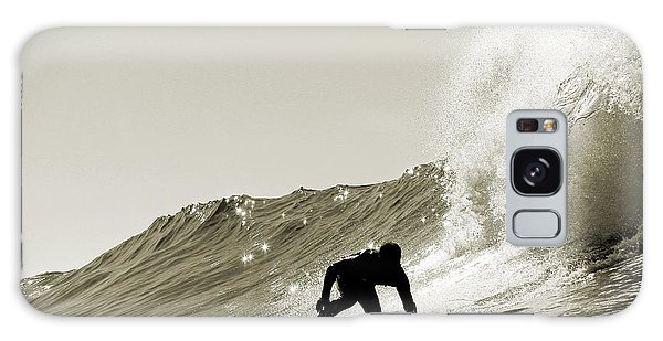 Surfer Sepia Silhouette Galaxy Case