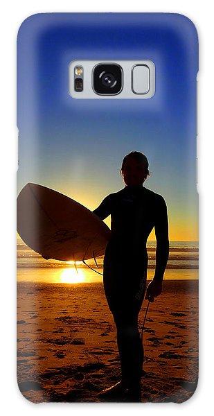 Surfer Silhouette Galaxy Case