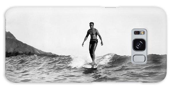 Surfing At Waikiki Beach Galaxy Case