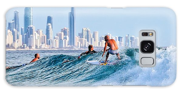 Surfing Burleigh Galaxy Case