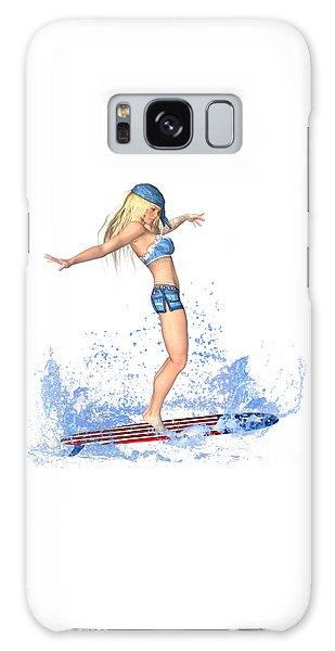 Luxmaris Galaxy Case - Surfing Girl by Renate Janssen