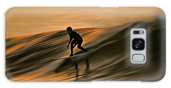 Surfing Liquid Copper C6j2144 Galaxy Case by David Orias