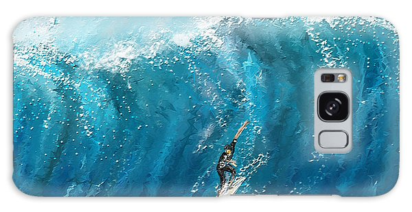 Surf's Up- Surfing Art Galaxy Case