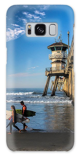 Surf's Up Galaxy Case by Tammy Espino
