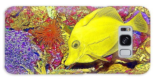 Surgeon Fish Yellow Tang Digital Art Galaxy Case by A Gurmankin