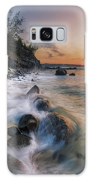 Surging Sunset Galaxy Case by Hawaii  Fine Art Photography