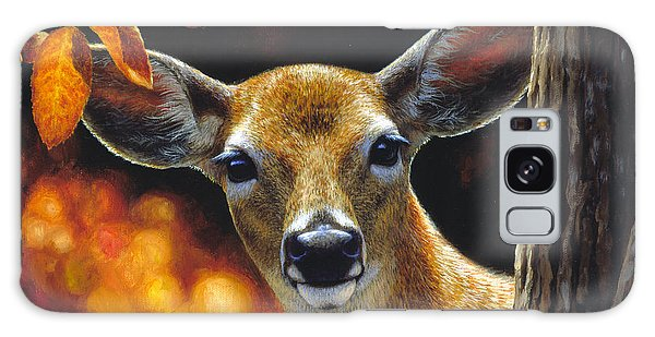 White-tailed Deer Galaxy Case - Whitetail Deer - Surprise by Crista Forest