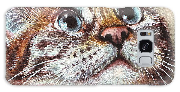 Watercolor Pet Portraits Galaxy Case - Surprised Kitty by Olga Shvartsur