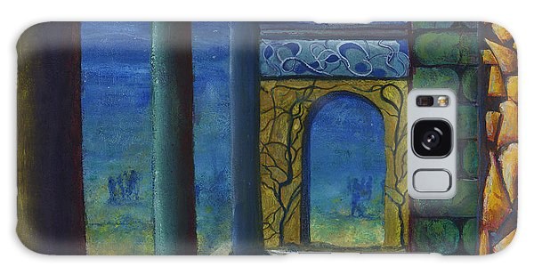 Surreal Art With Walls And Columns Galaxy Case