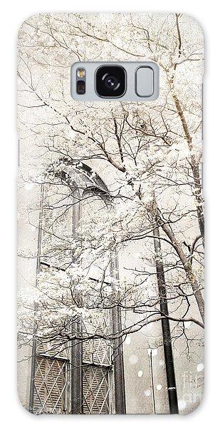 Surreal Dreamy Winter White Church Trees Galaxy Case