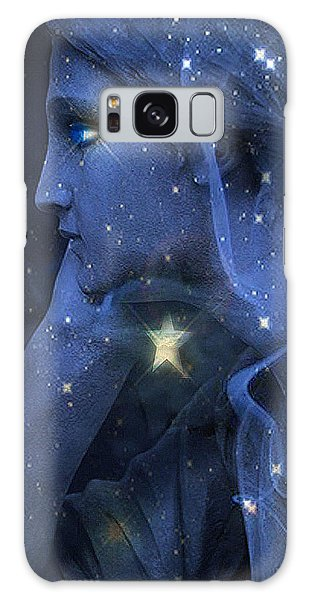 Surreal Fantasy Celestial Blue Angelic Face With Stars Galaxy Case