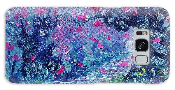 Surreal Landscape Art Pink Flower Tree Painting By Ekaterina Chernova Galaxy Case