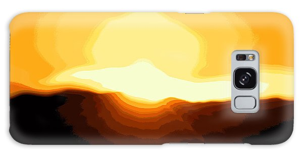 Surreal Mountain Sunset Galaxy Case by Clarice  Lakota