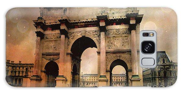 Louvre Museum Arc De Triomphe Louvre Arch Courtyard Sepia- Louvre Museum Arc Monument Galaxy Case