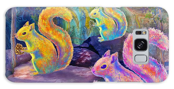 Surreal Squirrels In Square Galaxy Case