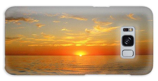 Surreal Sunrise At Sea Galaxy Case by Anne Mott