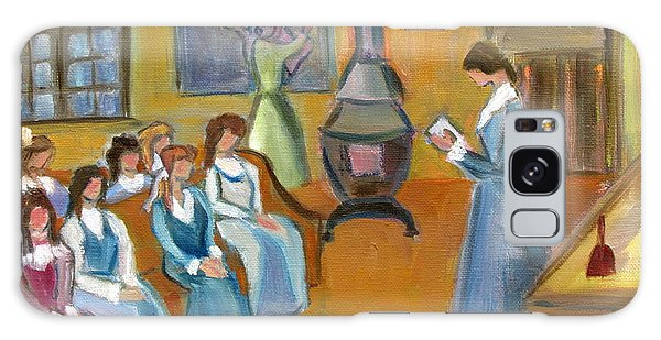 Susan B. Anthony Teaching In Canajoharie Galaxy Case by Betty Pieper