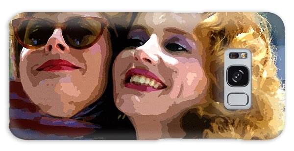 Susan Sarandon And Geena Davies Alias Thelma And Louis - Watercolor Galaxy Case