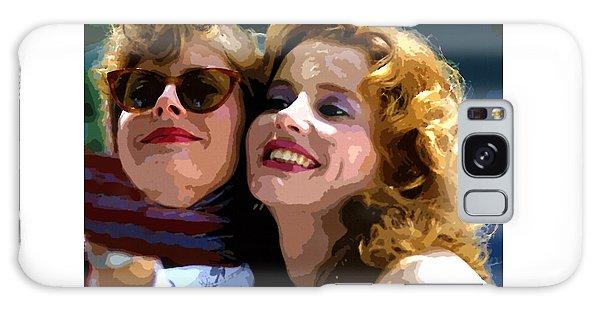 Susan Sarandon And Geena Davies Alias Thelma And Louis - Watercolor Galaxy Case