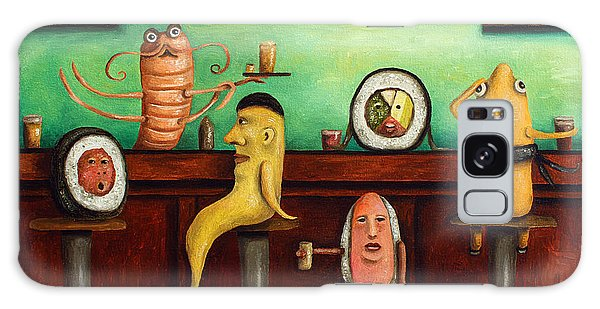 Sushi Bar Improved Image Galaxy Case by Leah Saulnier The Painting Maniac