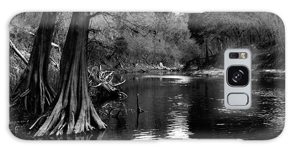 Suwannee River Black And White Galaxy Case by Donald Williams