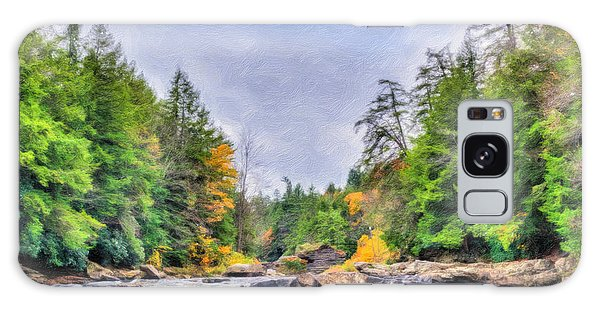 Swallow Falls Oil Painting Galaxy Case