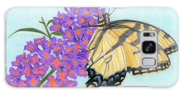 Swallowtail Butterfly And Butterfly Bush Galaxy Case