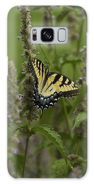 Swallowtail In Flower Field Galaxy Case