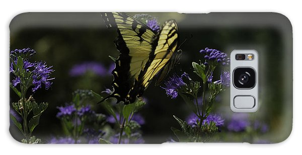 Galaxy Case featuring the photograph Swallowtail In Purple Field by Donald Brown