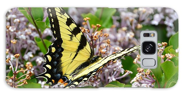 Swallowtail On Lilacs Galaxy Case