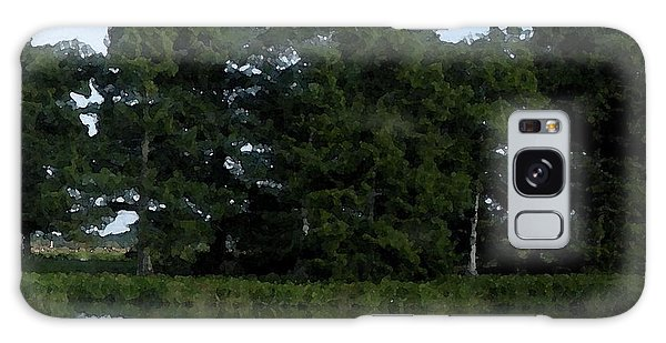 Swamp Cypress Trees Digital Oil Painting Galaxy Case