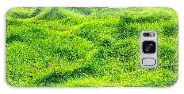 Swamp Grass Abstract Galaxy Case by Gary Slawsky