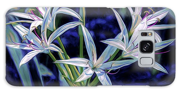 Galaxy Case featuring the photograph Swamp Lilies by Steven Sparks