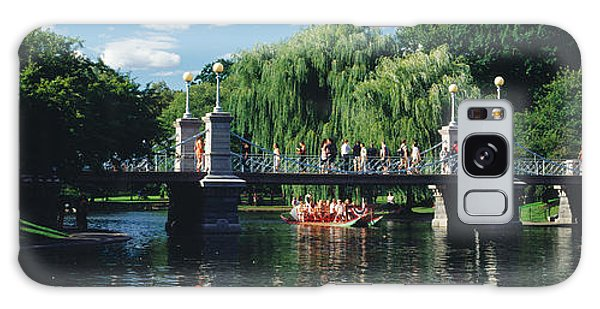 Swan Boats Galaxy Case - Swan Boat In The Pond At Boston Public by Panoramic Images