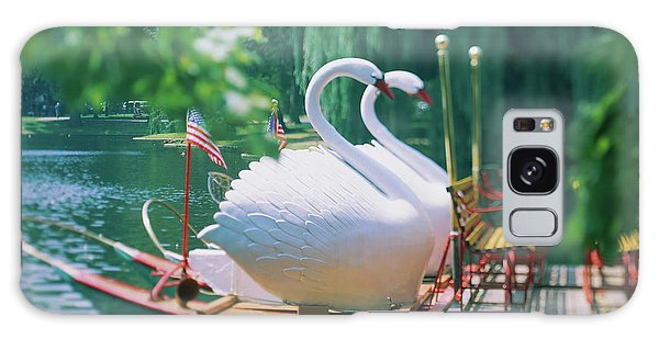 Swan Boats Galaxy Case - Swan Boats In A Lake, Boston Common by Animal Images