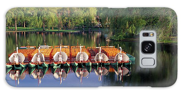 Swan Boats Galaxy Case - Swan Boats In A Lake, Boston Common by Panoramic Images