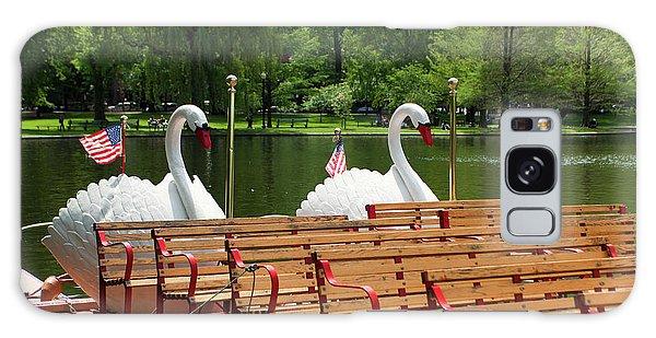 Swan Boats Galaxy Case - Swan Boats In Boston by Paul Giamou