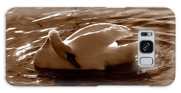 Swan By The Lake  Galaxy Case